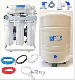 Pompe De Gavage De Réservoir Wh Du Système De Filtration D'eau Par Osmose Inverse Du Système De Filtration 200 Gpd Lpf 10 G