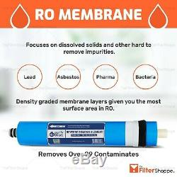 Portable À Double Usage Eau Par Osmose Inverse Filtre Systèmes DI / Ro- 150 Gpd Membrane