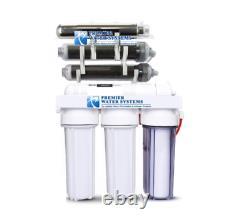 Premier 7 Étage Uv DI Récif D'aquarium Système De Filtre À Osmose Inverse + Pompe 150 Gpd