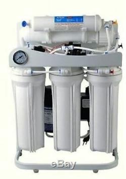 Premier Systeme D'osmose Inverse D'eau 100 Gpd 6 Etape Alcaline Filtre Boosterpump