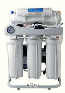 Premier Système D'osmose Inverse D'eau Jusqu'à 100 Gpd De La Pompe Avec Booster