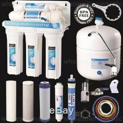 Purificateur À La Maison Ro De Système D'eau Potable Par Osmose Inverse De 5 Étapes Qualité Solide
