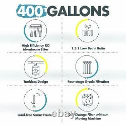 Q6 4-stage 400gpd Tankless Ro Reverse Osmosis Drinking Water Filtration System
