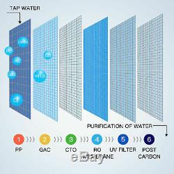 Réduction De L'échelle Uv De La Pompe De Perméat D'étape Du Système De Filtration D'eau Par Osmose Inverse De L'eau De Puits 6