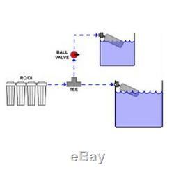Ro / DI Osmose Inverse Aquarium / Récif Système 6 Étapes Robinet De Rinçage Manuel 100 Gpd