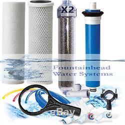 Ro / DI Osmose Inverse Aquarium / Système Récif 5 Valve De Chasse Double DI Double Étape 150 Gpd