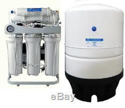 Ro Lumière Commerciale Eau Par Osmose Inverse Système De Filtration 200 Gpd- Pompe-pg Booster
