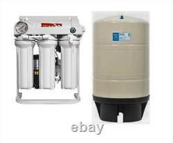 Ro Système De Filtration D'eau D'osmose Inverse 500 Gpd Booster Pompe Ro Réservoir 20 Gallon