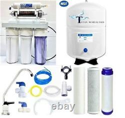 Ro/di Dual Outlet Reverse Osmosis Water Filter System 100 Gpd