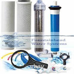 Ro/di Reverse Osmosis Aquarium/reef System 4 Stage Manuel Flush Valve 100 Gpd