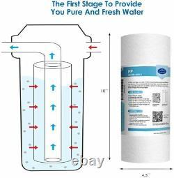Simpure 3 Stage Big Blue 10 Système De Filtration D'eau Maison Entière Pour Les Adoucisseurs D'eau