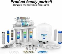 Simpure 6 Stage 100gpd Reverse Osmosis Alkaline Water Filtration Filter System