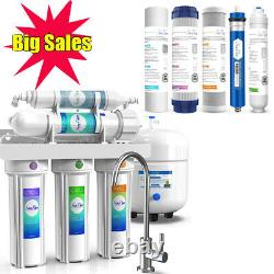 Simpure Reverse Osmosis Water Filtration System 5 Stage 100 Gpd Extra 5 Filtres