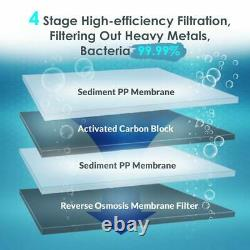Simpure Ro 400gpd Tankless Water Filter Reverse Osmosis System Extra 2 Filtres