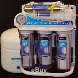 Stérilisateur Ultraviolet Ro 100 Gpd De Système De Filtre À Eau De Lumière Uv D'osmose D'inversion