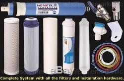 Système 50gpd Minéral Alcalin De Filtre D'eau De Ph Ionizer Ro D'osmose D'inversion De 6 Étapes