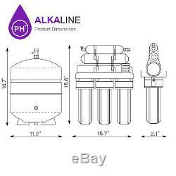 Système Alcalin De Système D'osmose D'inversion De Filtre À Eau Potable De Maison De Ro De 10 Étapes 100