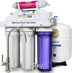 Système D'alimentation En Eau D'osmose Inverse Résidentiel De 6 Colonnes De Barillet Ispring Rcc7ak, 75 Gpd, Avec Wqa