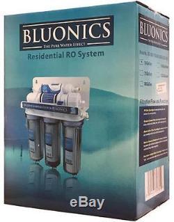 Système D'eau Potable Par Osmose À 5 Étapes Bluonics Purificateur Domotique 50 Gpd Ro