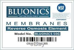 Système D'eau Potable Par Osmose Inverse Ro Home Purifier 100 Gpd + Extra Filter Set