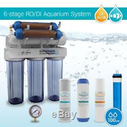 Système D'osmose D'inversion De Corail De Récif D'aquarium 100gpd Filtre À Eau Pur De 0 Ppm Ro DI