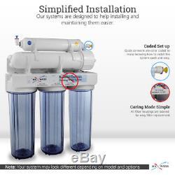 Système D'osmose D'inversion Potable À La Maison De L'eau Maximum De 5 Étapes Avec Le Total De 15 Filtres De Ro