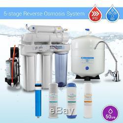 Système D'osmose D'inversion Potable De L'étape 5 De L'eau Maximum De Max Avec La Pompe D'appoint