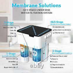 Système D'osmose De L'eau Potable Inverse 5 Étapes Ro Home Purificateur Filtre Alcalin