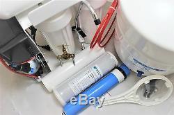 Système D'osmose Inverse 100 Étapes 4 Étapes Avec Pompe De Surpression Compacte