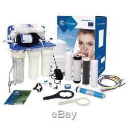 Système D'osmose Inverse À 6 Étapes Aquafilter Avec Pompe 75gpd Pour Eau Potable