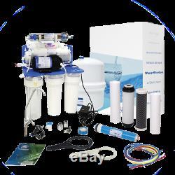 Système D'osmose Inverse À 7 Étapes Aquafilter Avec Pompe 75gpd Pour Eau Potable