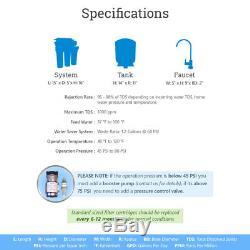 Système D'osmose Inverse À Boire À 5 Étages Plus 7 Filtres D'eau Max 100 Gpd