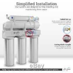 Système D'osmose Inverse À Boire En 5 Étapes Withtotal 15 Filtres Ro USA + Manomètre