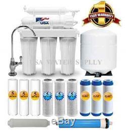 Système D'osmose Inverse À La Maison À Boire À 5 Étages Plus 7 Filtres Supplémentaires D'eau USA