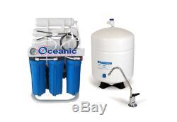 Système D'osmose Inverse Alcaline De Filtration D'eau De 100 Gpd 6 Etape + Booster Pompe
