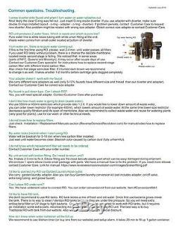 Système D'osmose Inverse De Comptoir Portatif À 5 Étages 75gpd Avec Filtre DI 0 Ppm