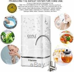 Système D'osmose Inverse De Filtration D'eau 4 Etape Ro Purificateur D'eau Avec Robinet