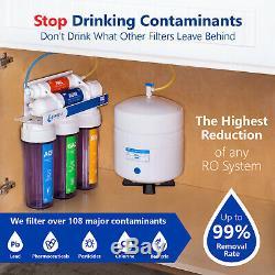 Système D'osmose Inverse De Filtration D'eau Claire Ro Plus 4 Filtres 100 Gpd