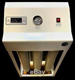 Système D'osmose Inverse De Filtration D'eau De 800 Gpd Double Surpresseur Automatique Ro Flush