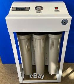 Système D'osmose Inverse De Filtration D'eau De 800 Gpd Double Surpresseur Ro Flush Automatique
