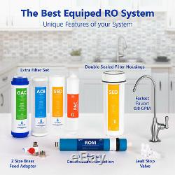 Système D'osmose Inverse De Filtration D'eau Ro Avec Pression Booster Pompe 100 Gpd
