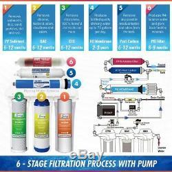 Système D'osmose Inverse De Filtration D'eau Sous L'évier Avec Pompe Et Filtre Alcalin
