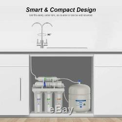 Système D'osmose Inverse De Filtration D'eau Sous L'évier Filtre À Eau 5 Étapes 100 Gpd