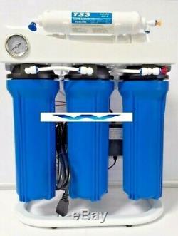 Système D'osmose Inverse De Filtration D'eau Surpresseur Lumière Commerciale 400gpd