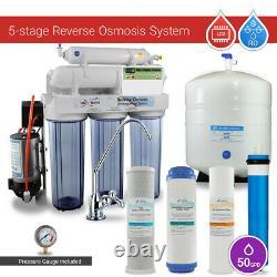 Système D'osmose Inverse En 5 Étapes Avec Pompe D'appoint Et Micro Ordinateur Tds Ro Mètre