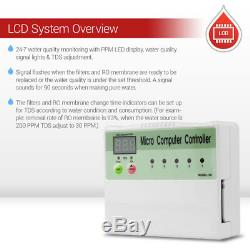Système D'osmose Inverse En 5 Étapes Avec Pompe De Surpression Et Compteur Micro Computer Tds Ro