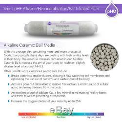 Système D'osmose Inverse Infrarouge Minéral Alcalin Résidentiel Résidentiel À La Maison De 8 Étapes 50 Gpd