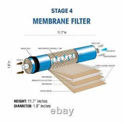 Système D'osmose Inverse Potable À Domicile À 5 Étapes + Filtres + Réservoir Membranaire Nsf