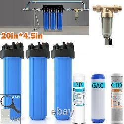 Système De Filtration 3-stage Big Blue 20 Maison Entière+stand+gac+carbon+sédiment