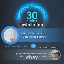 Système De Filtration D'eau 5 Étages Sans Réservoir 400 Gpd, 11drain Ratio